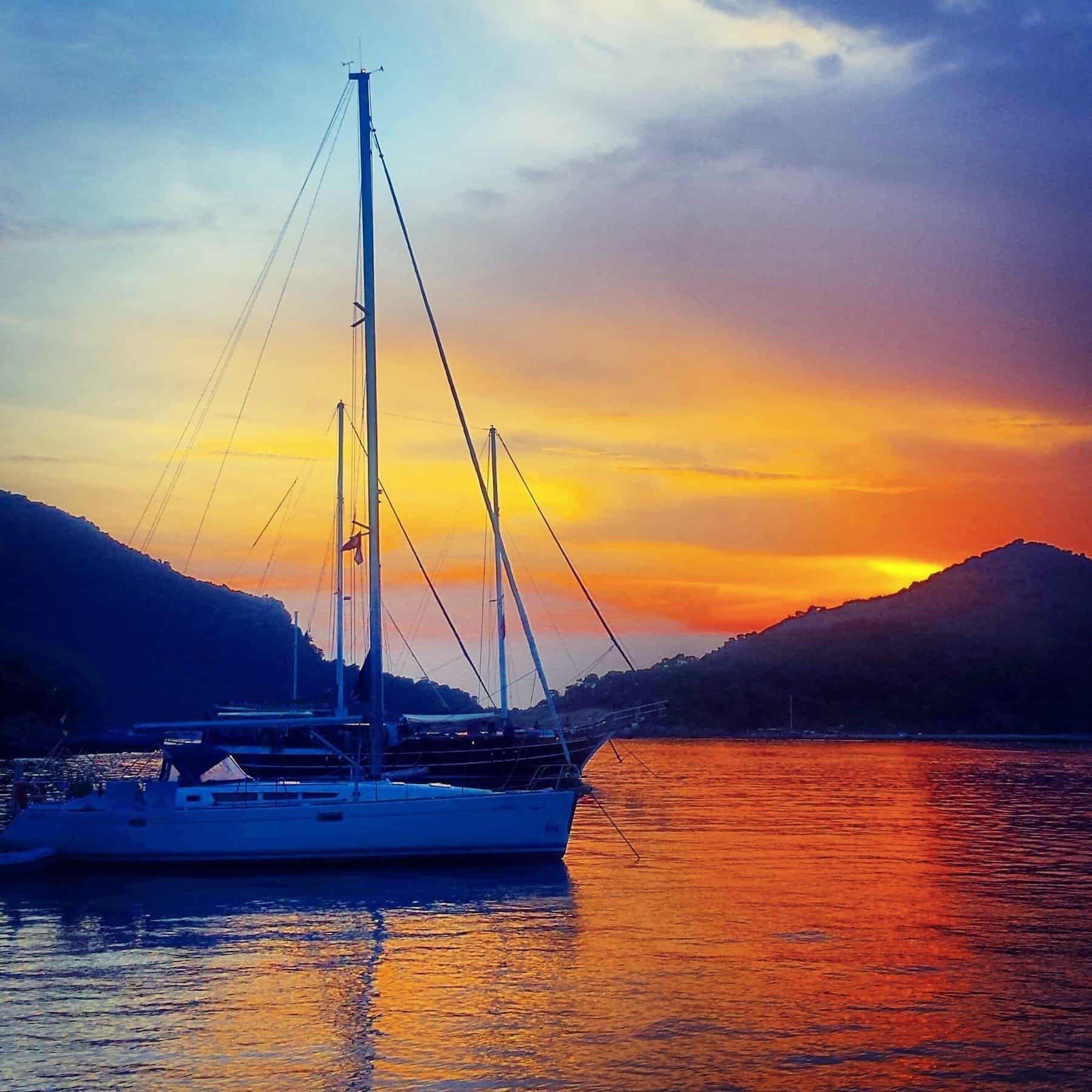 sunset on gemiler island