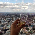 champagne at the top of the shard