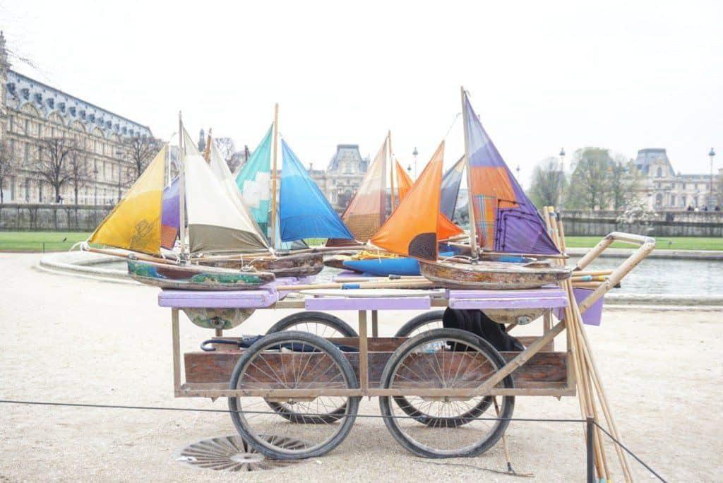 cute wooden boats jardin des tuileries