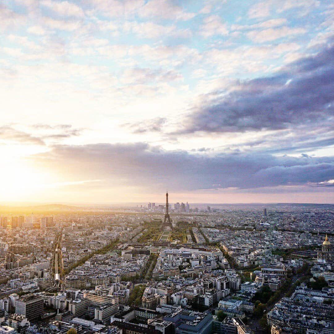 sunset at tour montparnasse