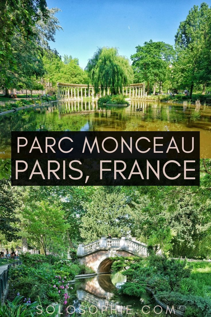 Here's how to visit Parc Monceau, Hidden Gem of the 8th Arrondissement, Paris, France: This pretty Parisian park is filled with 19th-century monuments and is a great spot for a picnic!