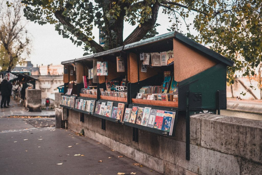 Paris Bouquinistes along the Seine & A River Between two Bookshelves!
