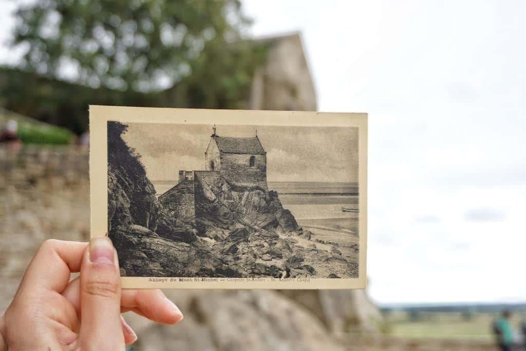 vintage postcard mont saint michel