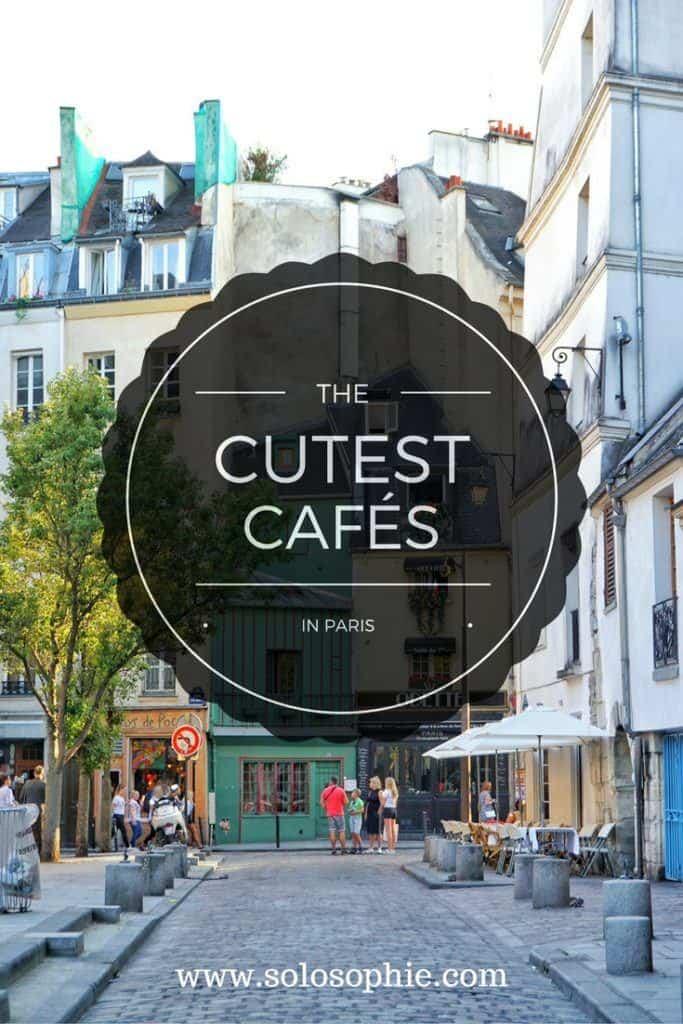cute parisian cafes graphic