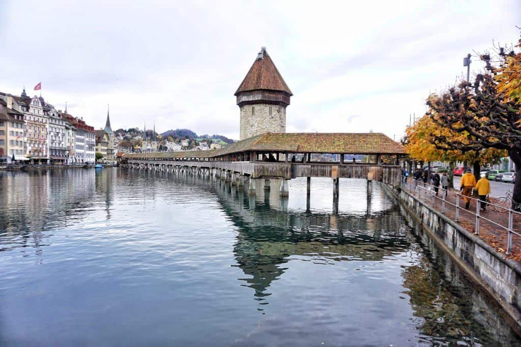 water bridge lucerne and tower