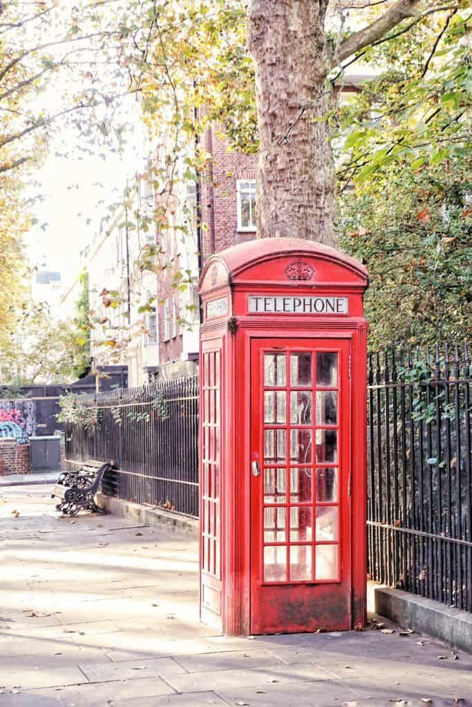 Iconic Photo Locations in London: Red telephone box