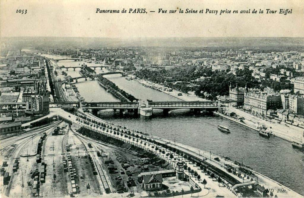 view from the eiffel tower early 1900s