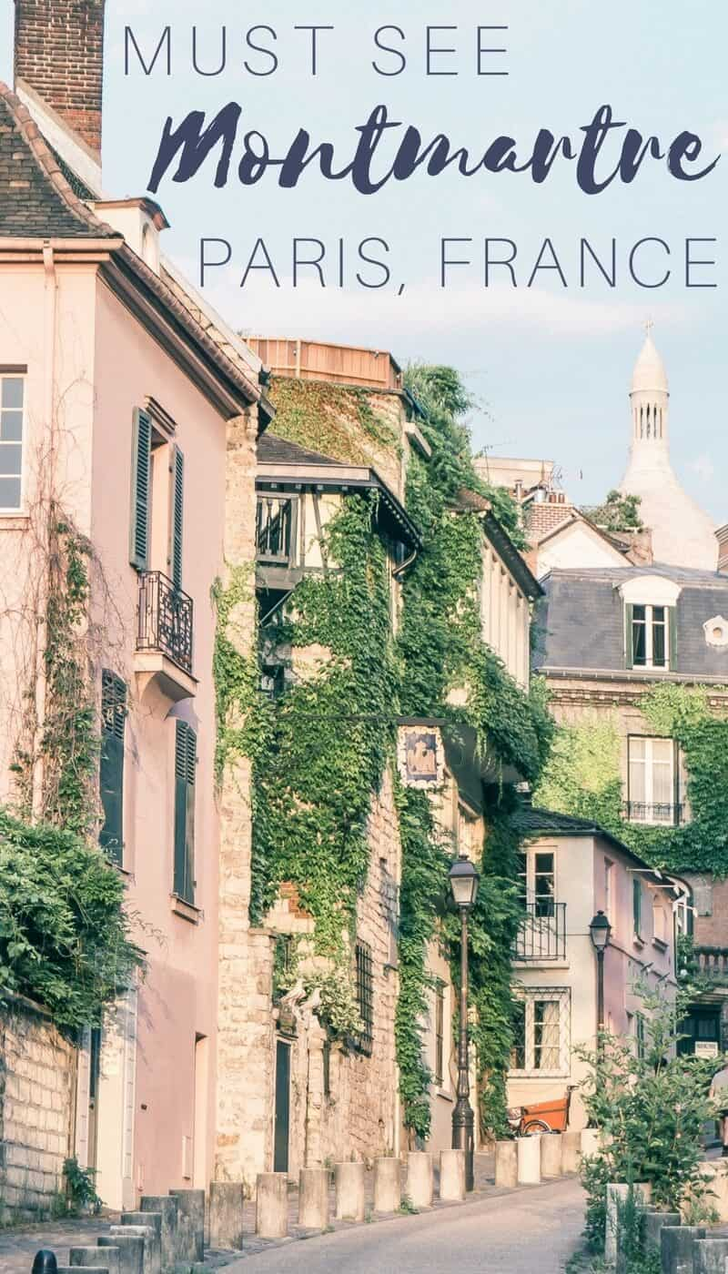 Must see attractions in Montmartre, Paris, France. A neighbourhood and arrondissement guide for the French capital's prettiest district!