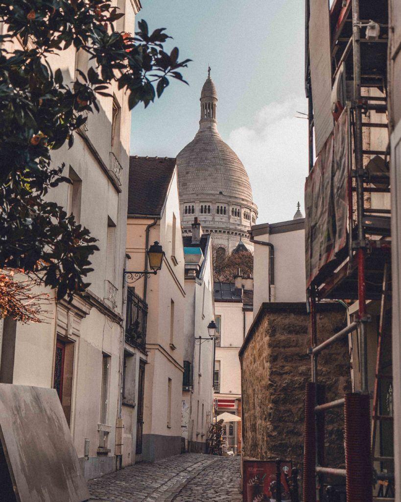 The prettiest street in Montmartre, Paris, France