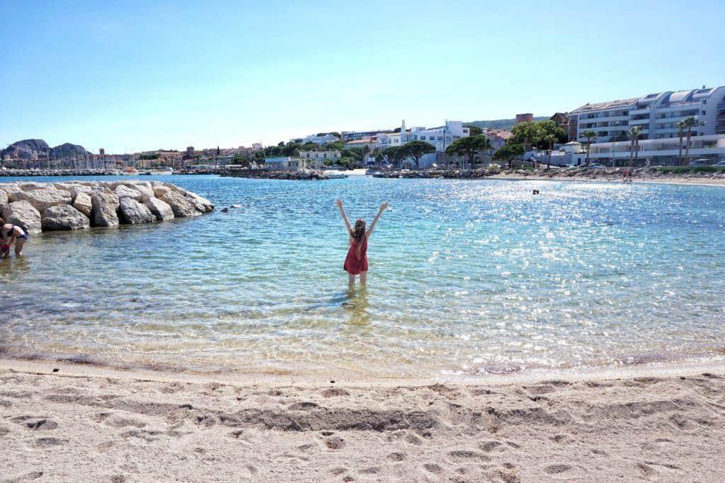 the beach at la ciotat provence france
