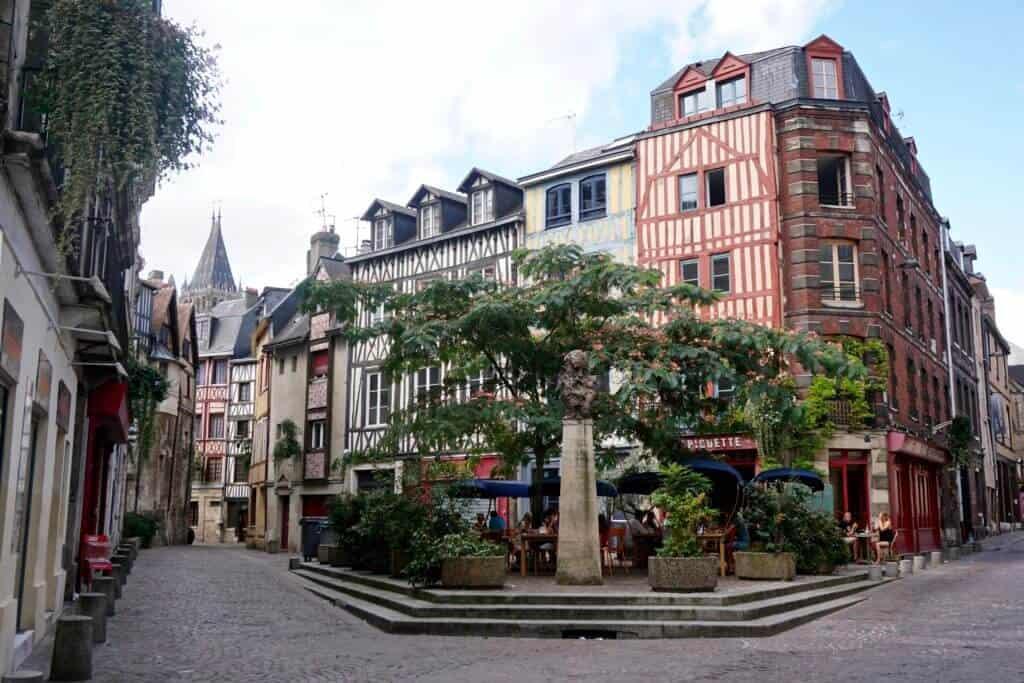 medieval streets rouen
