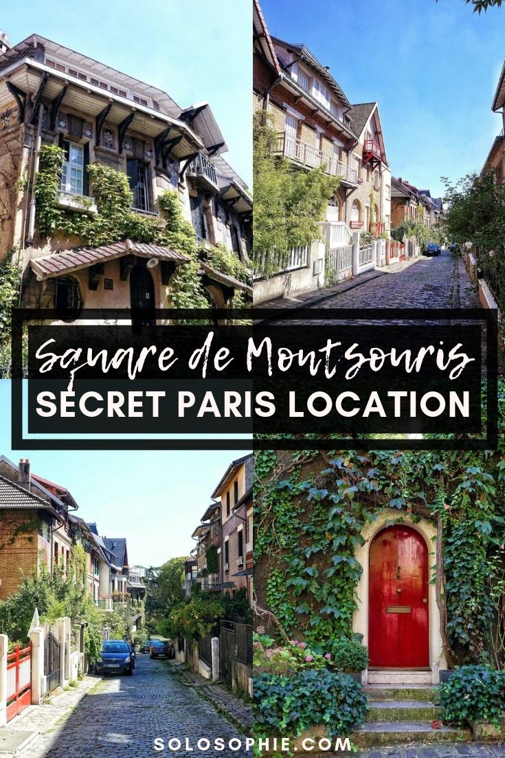 Square de Montsouris; a quirky and secret Paris location in the 14th arrondissement of the French capital, Paris, France. How to visit an art deco and art nouveau road in Paris, Europe