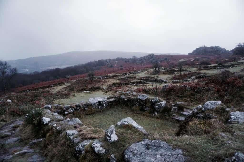hound tor medieval village abandoned and deserted settlement on dartmoor devon england