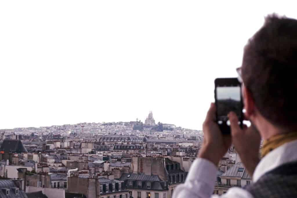 Centre Georges Pompidou, unusual places to see the sacre coeur in paris