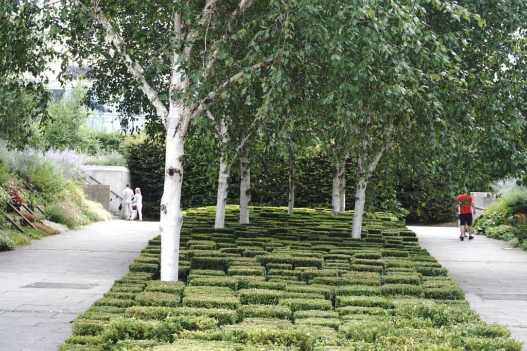 landscaped gardens Parc Andre Citroen, 15e arrondissement, Paris, France