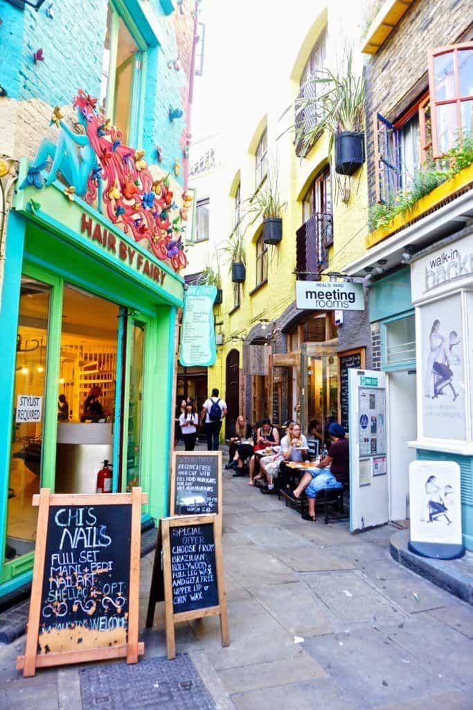 neal's yard Covent Garden, London: Secret London Locations