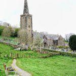 Crooked spire of Ermington Church, Devon, South Hams, England