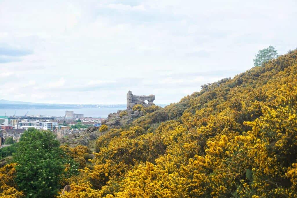 Ruins of Saint Anthony's Chapel, Holyrood Park, Edinburgh, Scotland