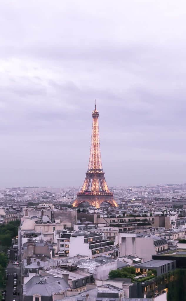 where to see the sunset in paris