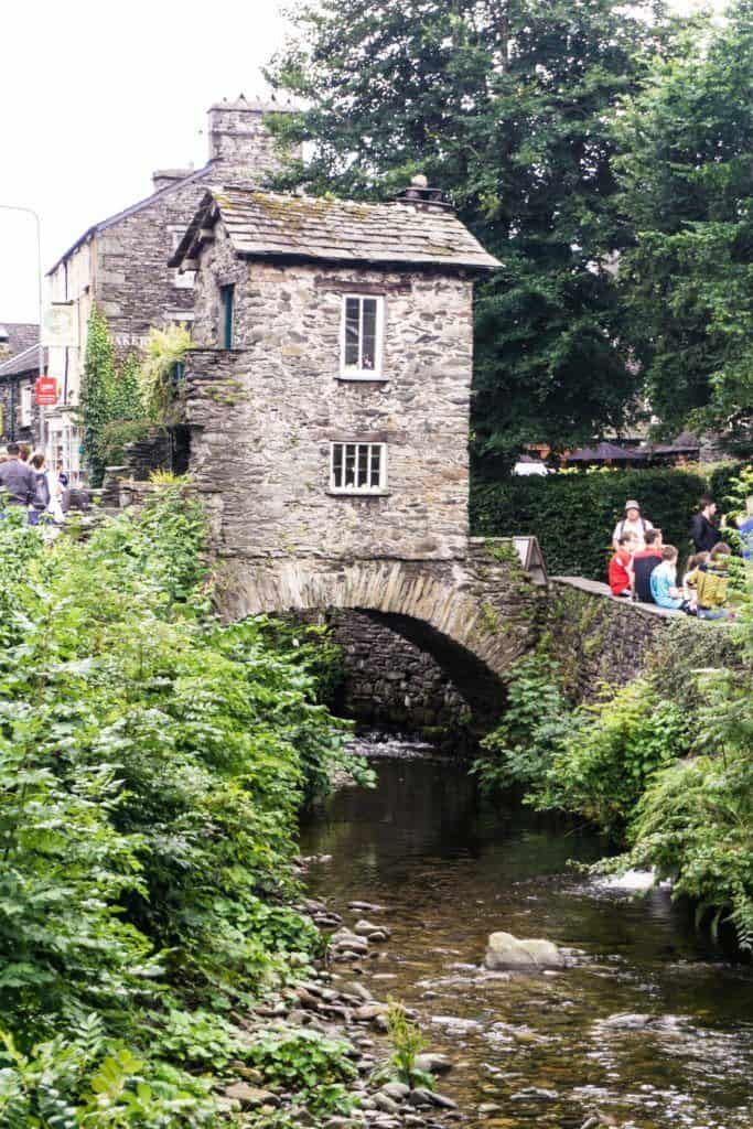 the quirky and unusual Bridge House in Ambleside Lake District: a rare survival of 17th-Century Cumbria architecture in England