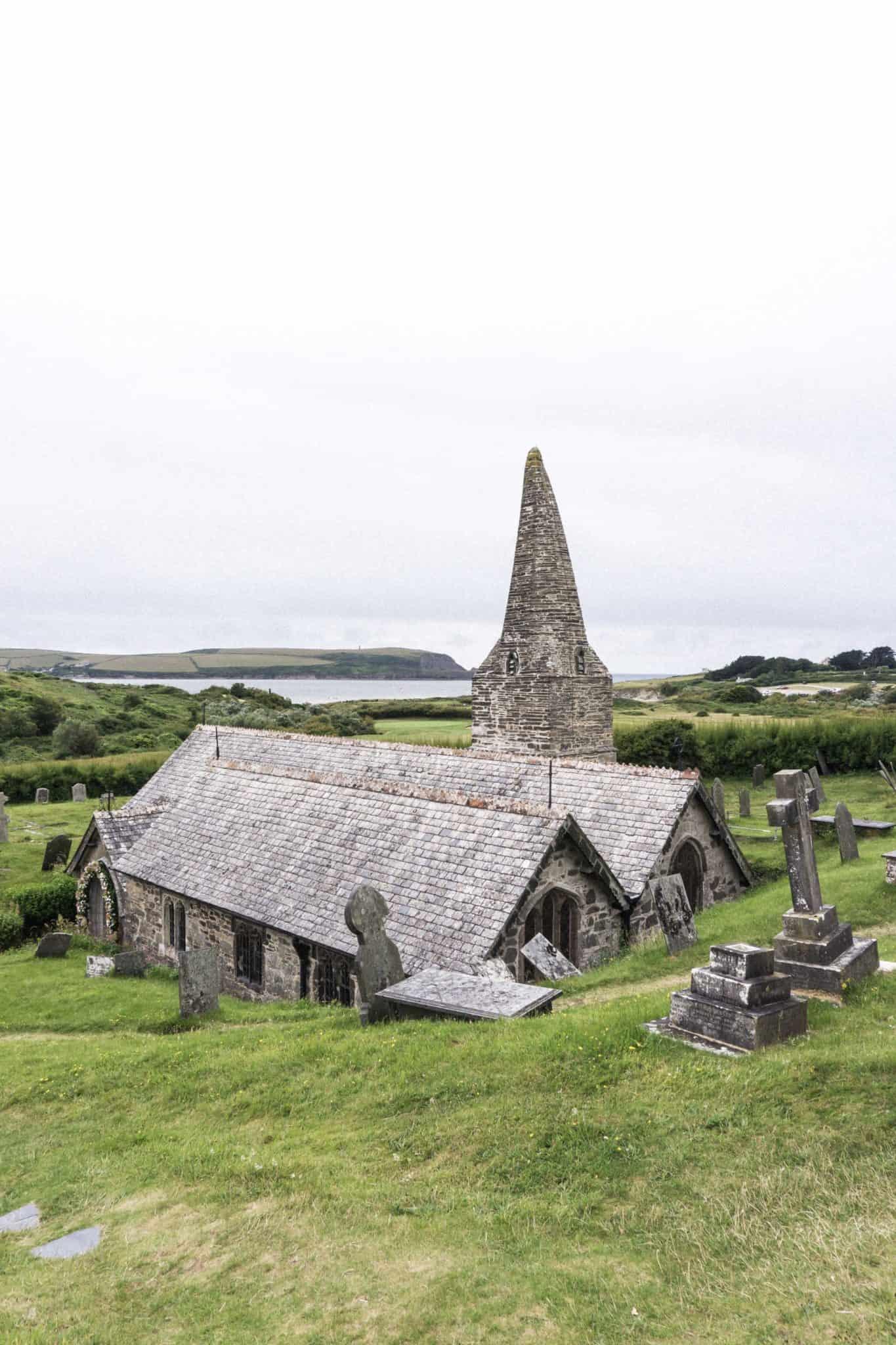 st enodoc's church, cornwall, england