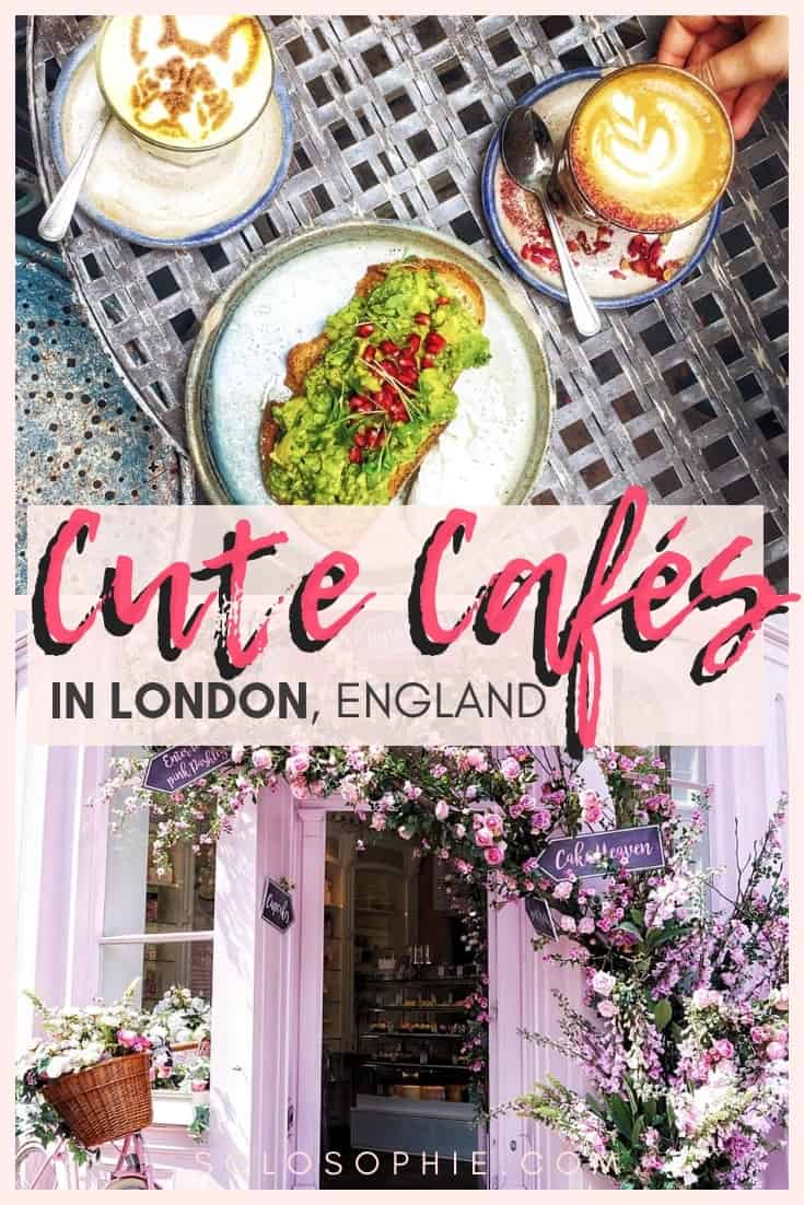 Cute Cafés and coffee shops in London, England. Here's your complete guide to the best of British cafes in the Capital of the UK