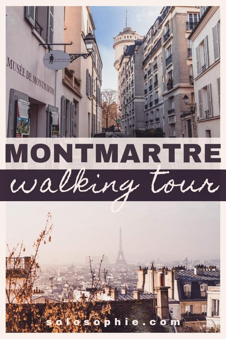 Free and self-guided Montmartre tour. Here's an itinerary for an easy guide to the 18th arrondissement of Paris, France