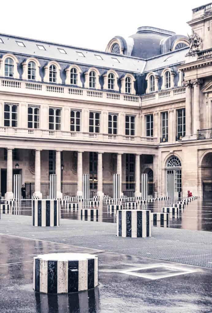 Colonnes de Buren, Palais Royal, Paris, France