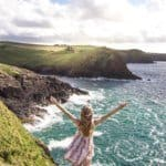 Doyden Castle and Port Quin: Cornish fishing hamlet and Victorian folly, Cornwall, England