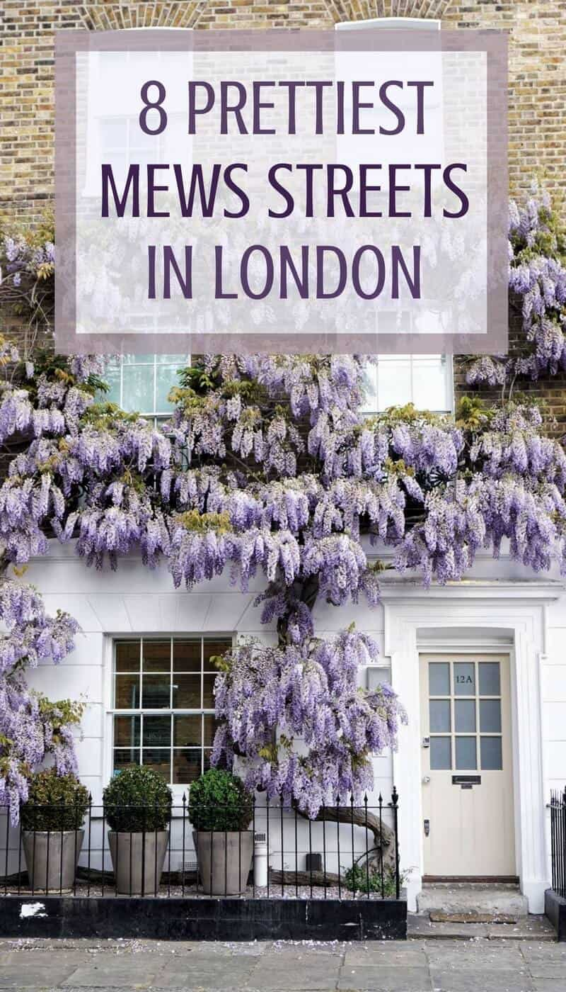 8 prettiest and very best mews streets in London, England!