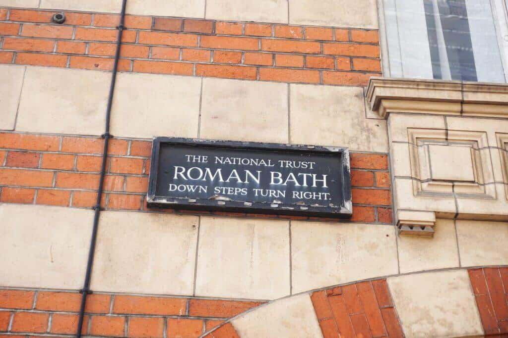 Fake roman Bath House, Strand, London, England