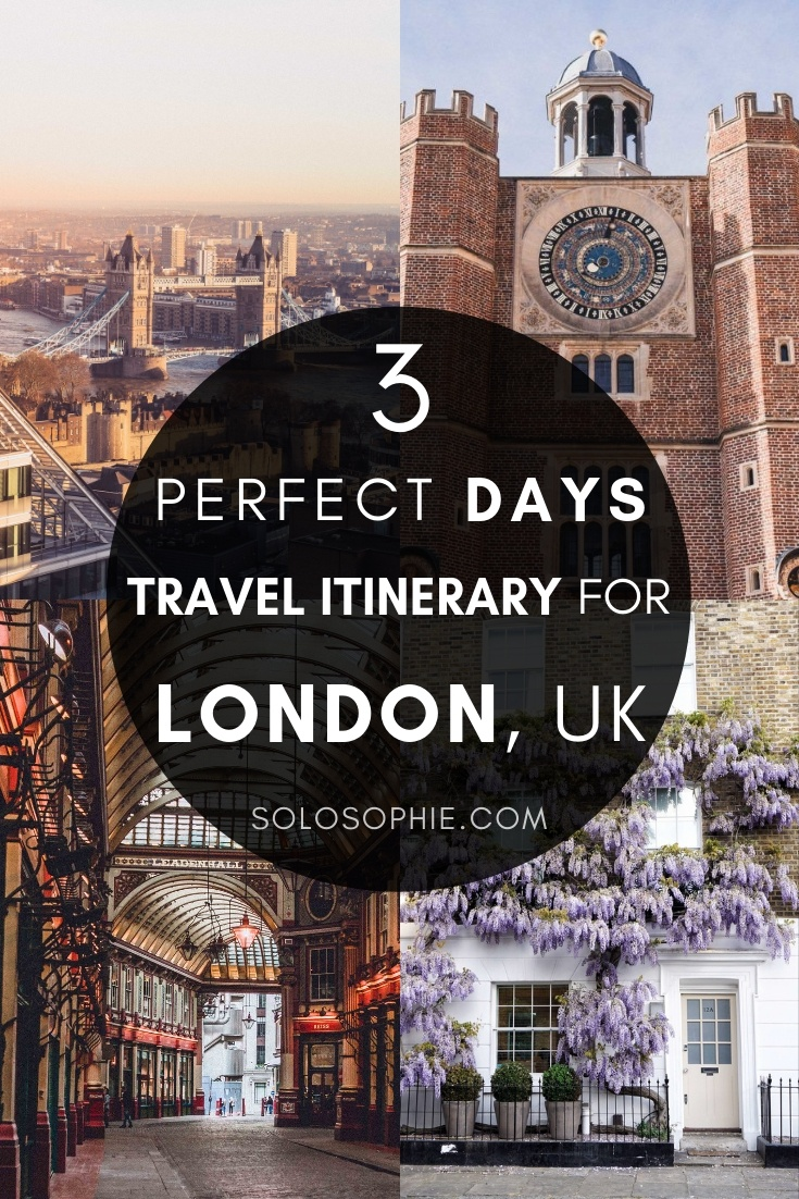 Looking to spend three perfect days in London? Here's a travel guide, suggested itinerary, and practical advice for the best London attractions to visit during a long weekend in the UK capital city