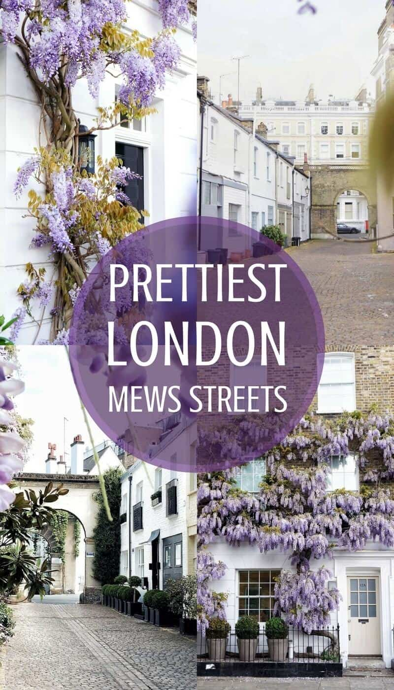 The very best and prettiest London mews streets you'll wand to meander along in London, England.