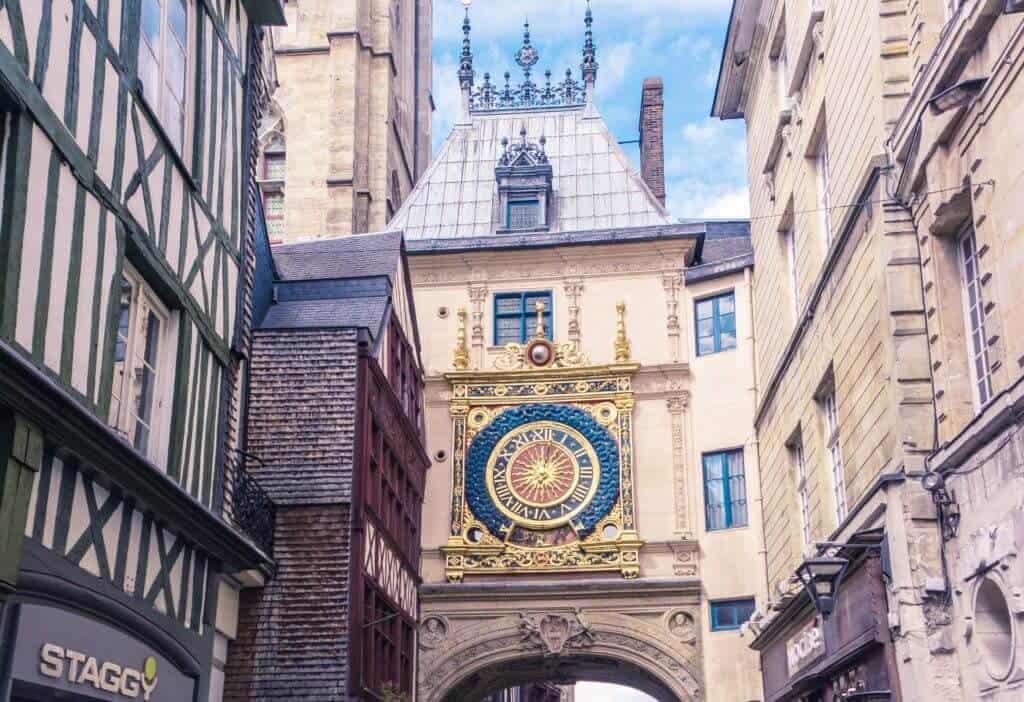 Gros Horloge of Rouen, Normandy France