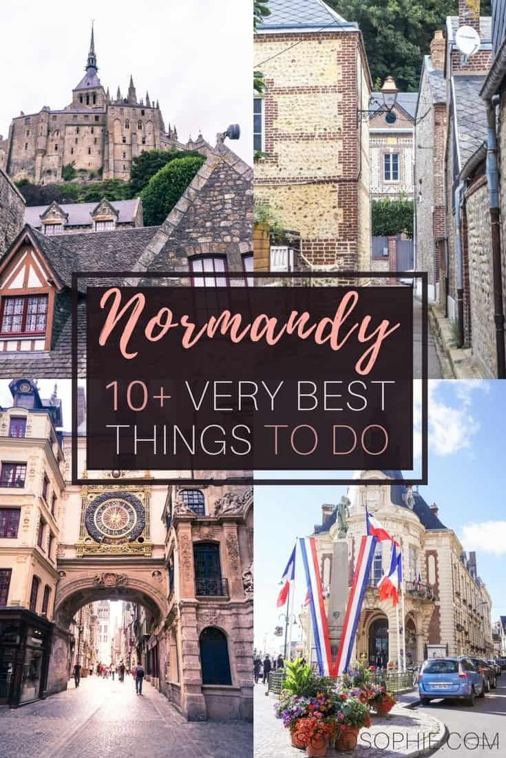 Best things to do in Normandy, Northern France. Activities, places to see and history to visit that you'll just love! Towns, old castles, local food and more!