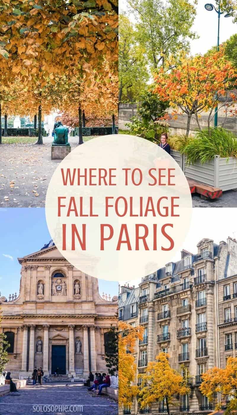 Here's where to see autumn in Paris- all of the very best spots and secret locations to see fall in the French capital of Paris, France!