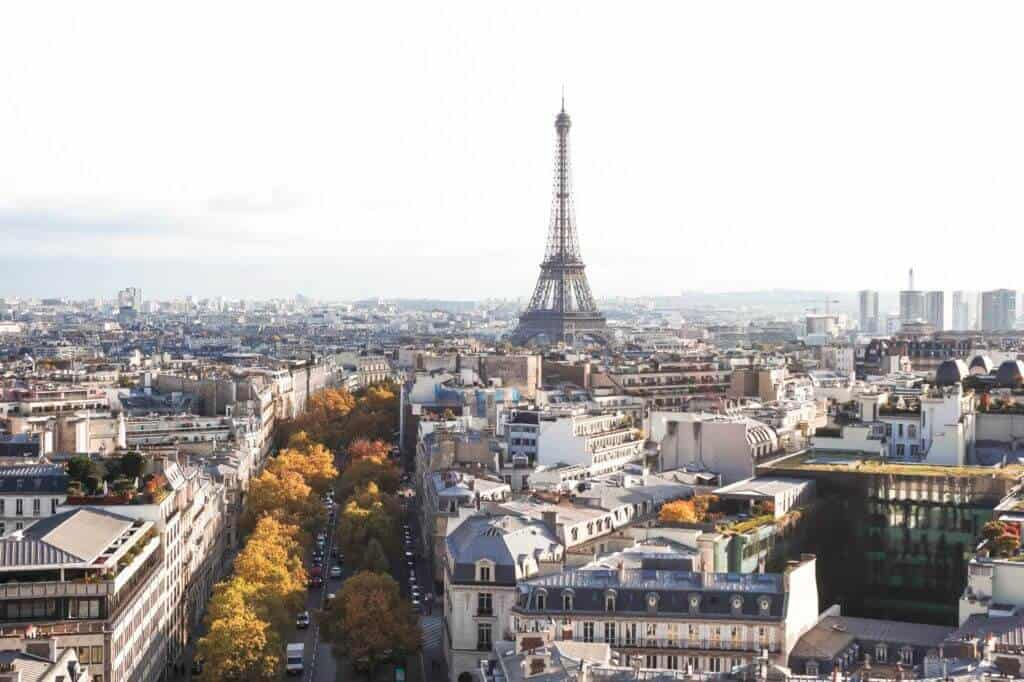Top of the arc de triomphe: where to see fall foliage in paris