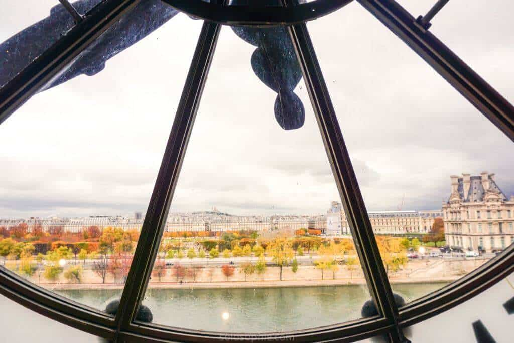 where to see the best fall foliage in paris, france: musée d'orsay