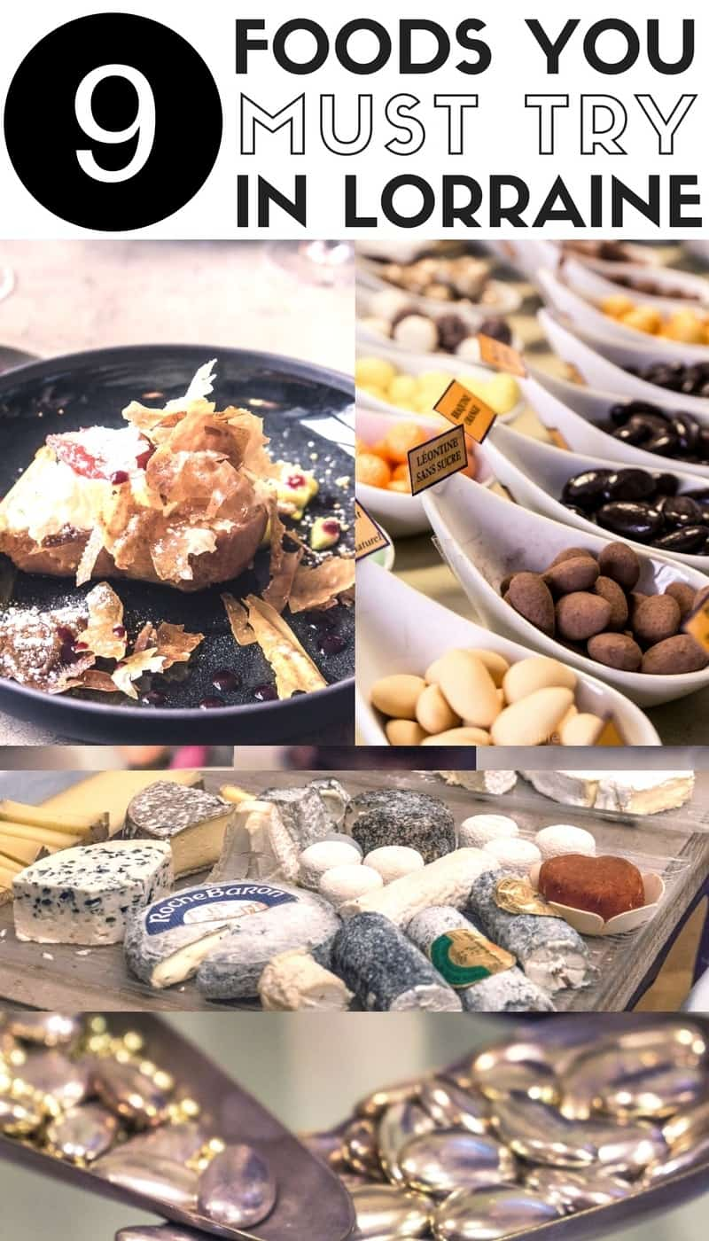 Must try foods in Lorraine: local specialities of the Lorraine region in France you'll love: local desserts, drinks and more!