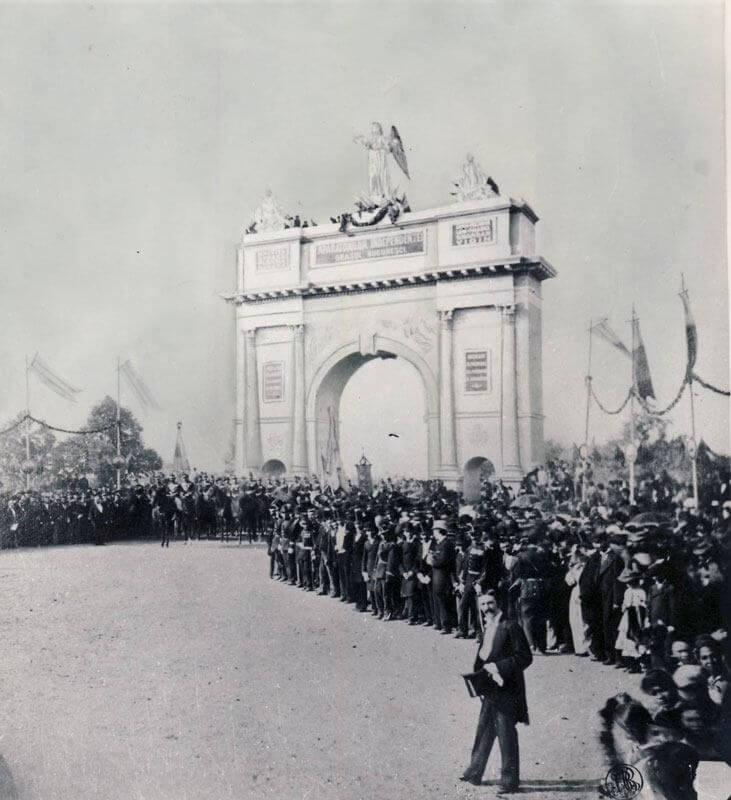 Arcul de Triumf, Bucharest, Romania in 1883