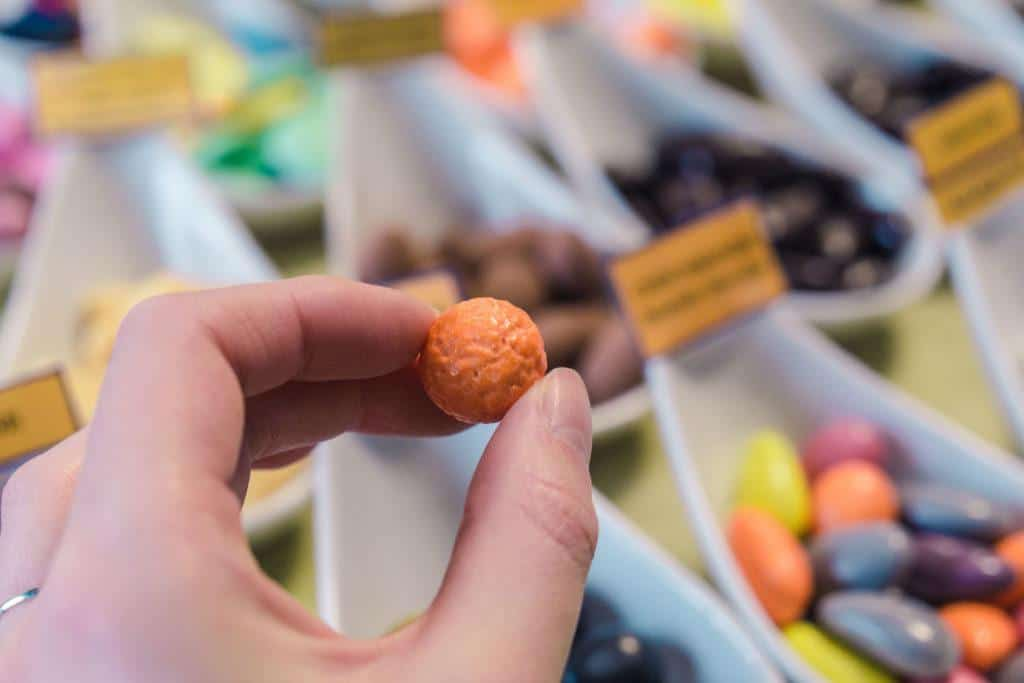 Must try foods in Lorraine, France: dragées de verdun