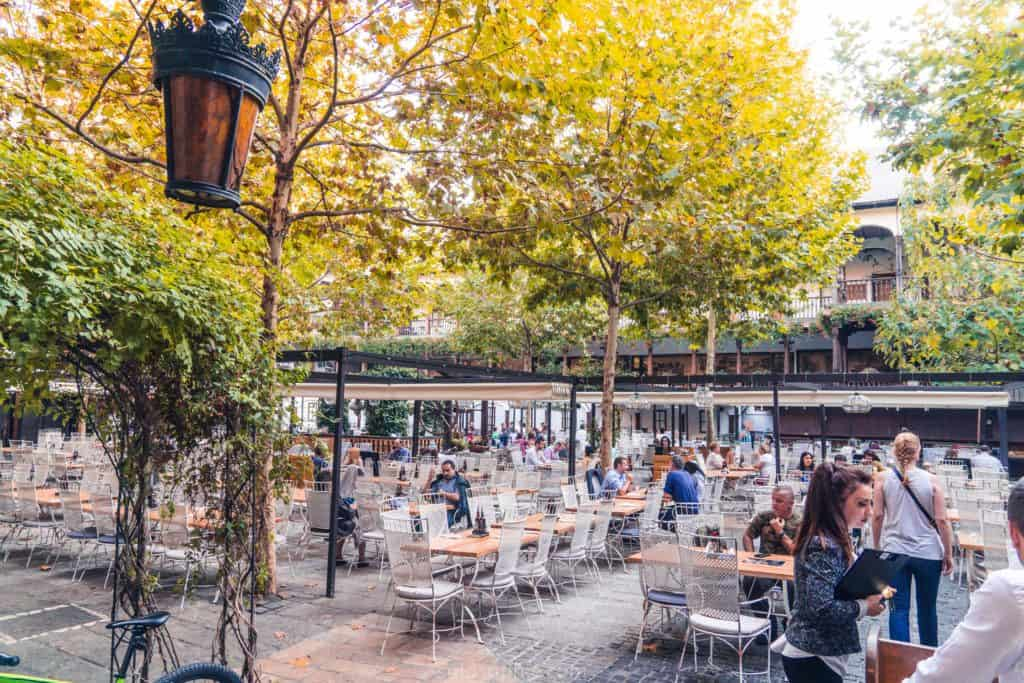 Best things to do in Bucharest: Hanul Lui Manuc beer garden and restaurant
