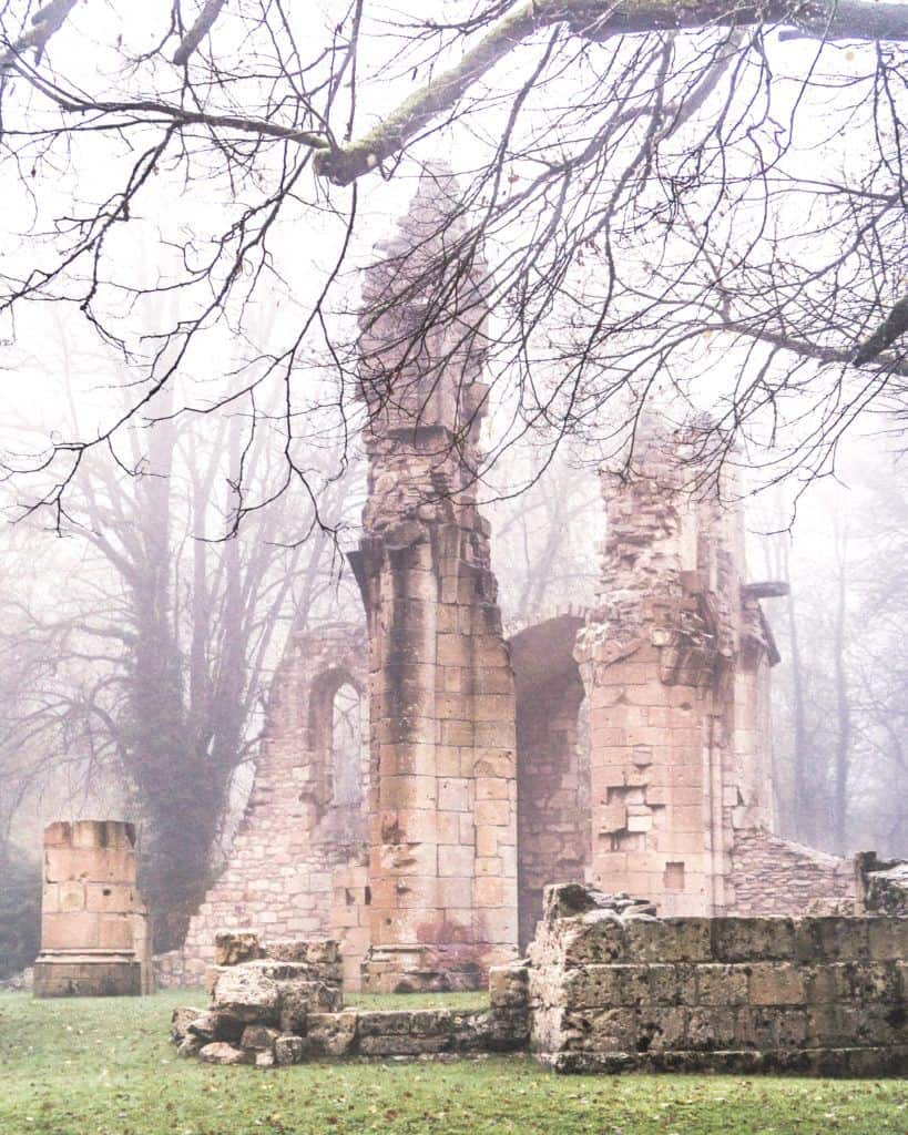 Ruined church of Montfaucon, France