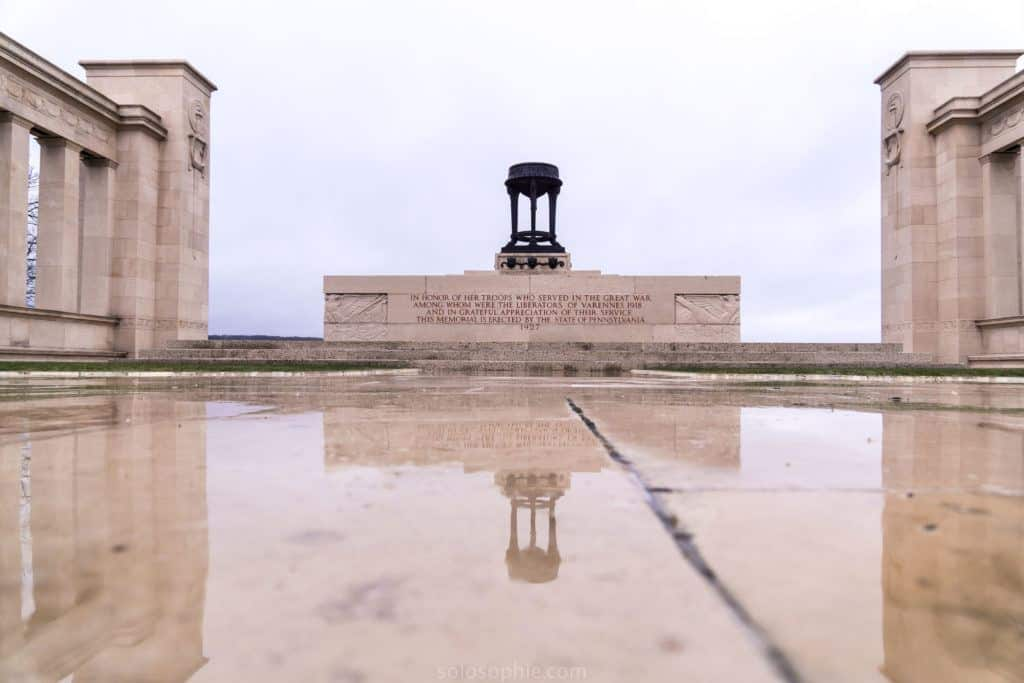 A visit to the Pennsylvania Memorial at Varennes