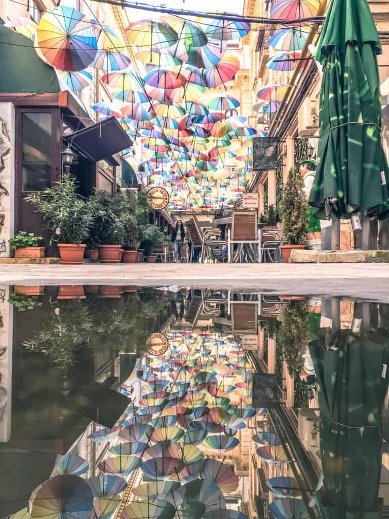 Best things to do in bucharest: see the umbrella passage
