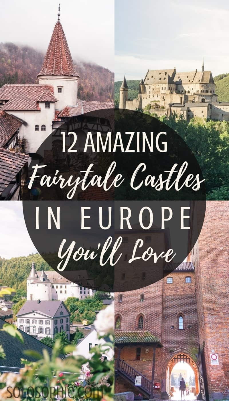 12 amazing and beautiful and very best castles in Europe you'll absolutely love! Medieval, Renaissance and ruined European Castles