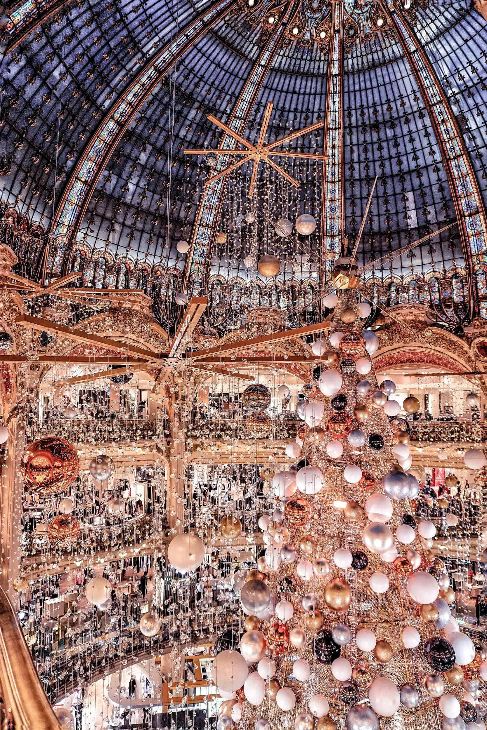 Galeries Lafayette Christmas tree: feeling festive in Paris, France 2015