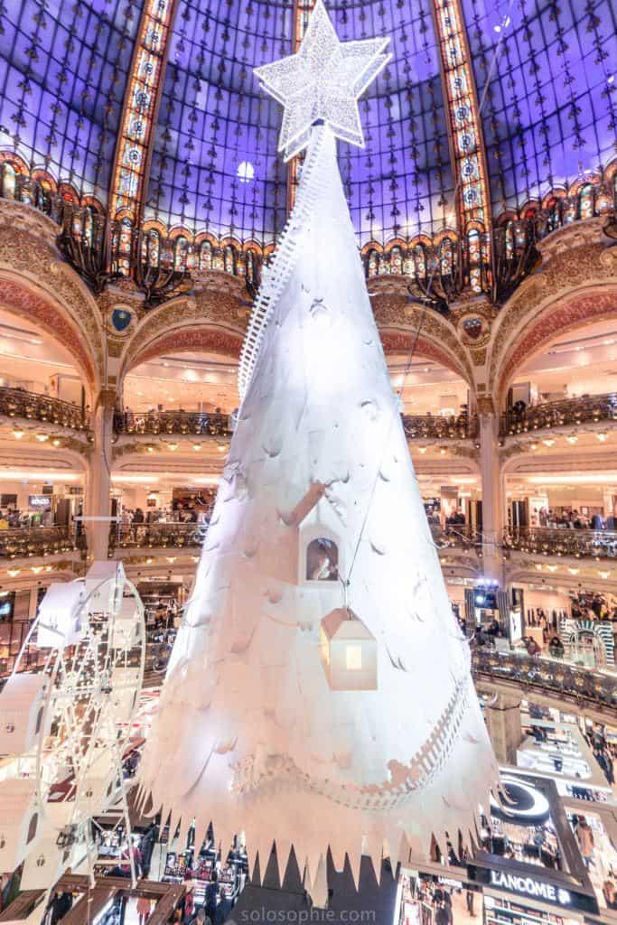 Galeries Lafayette Christmas tree: feeling festive in Paris, France 2016
