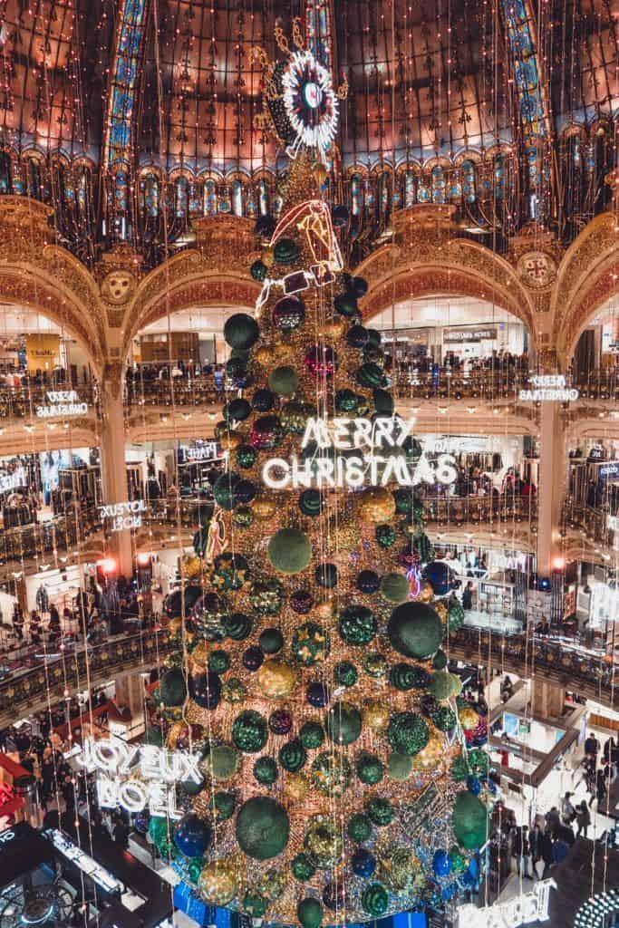 Galeries Lafayette Christmas Tree: Festive Season in Paris