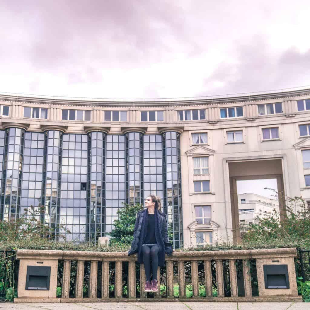My secret Paris locations: quirky and non touristy spots in Paris, France. Jardin des Colonnes, 14e arrondissement!